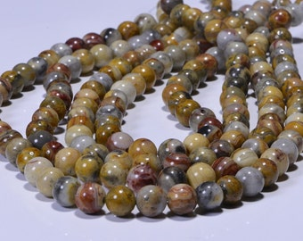 Crazy Lace Agate 8.5mm Half Strand Natural Gemstone Beads Agate Beads Jewelry Making Supplies