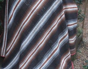 Vintage BolivianAlpaca Frazada/Frasada blanket, Aymara weaving, Quechua Phullu, Cama, Andean rug,Throw blanket