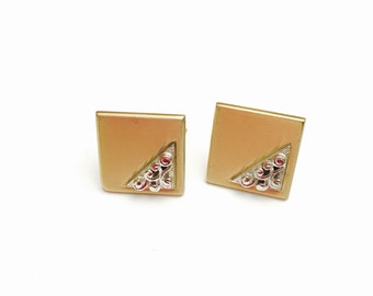 Vintage Swank Cufflink,  Gold & silver Tone,  Clearance SALE, Masculine Gift, Item No. B093