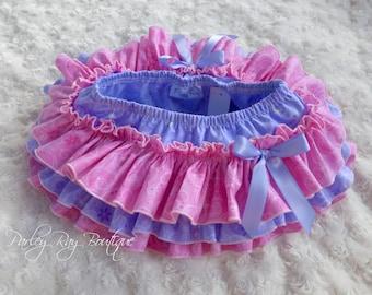 Beautiful Parley Ray Pink & Purple All Around Ruffle Skirt Ruffled Baby Bloomers
