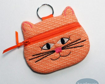 Cat Coin Purse, Earbud Pouch