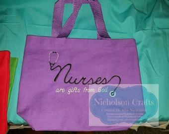 Nurses are a gift machine embroidery design - 5X7