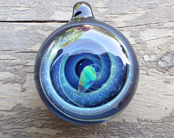 Mother of the groom gift Smokey Galaxy Pendant Necklace, heady glass pendant, blown glass pendant heady, Space glass pendant Wedding Favors