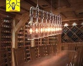 Pendant Light. Wine Bottles. Custom listing.