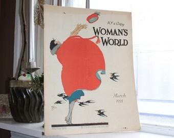 Woman's World Magazine Vintage March 1921 Fashion Mag