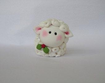Polymer Clay Christmas Lamb