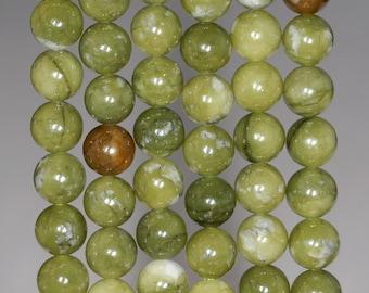 6mm Olive Jade Gemstone Green Round 6mm Loose Beads 15 inch Full Strand (80002956-804)