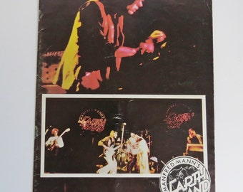 Manfred Mann's Earth Banbd - Vintage Manfred Mann's Earth Band 1976 UK Tour Programme