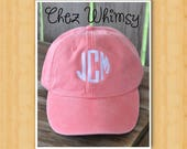 Baseball Cap, Monogrammed Ladies Cap, Women's Baseball Cap, Monogram Cap, Monogrammed Hat, Girls Ball Cap Personalized