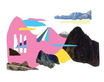 Place Myth (Pink and Blue Mountain)