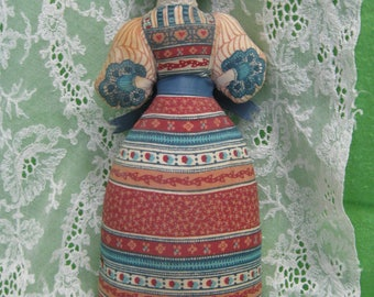Vintage Avon American Heirloom Cloth Body Doll With China Head, ca. 1980
