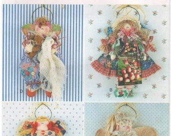 """1995 - Butterick 3974 Vintage Sewing Pattern Needle In A Haystack 11"""" Angel Stuffed Doll Decoration American Bedtime Garden Christmas"""