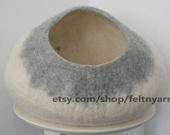 Gradient cat cave, cat house, cat furniture, felt cat house, felt cat bed.