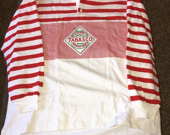 Vintage Tabasco Polo rugby shirt nwot size XL htf