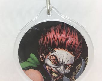 Upcycled Comic Book Keychain Featuring - Duela Dent
