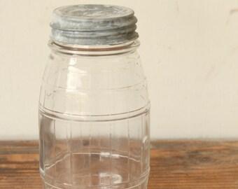 Vintage Canning Jar Barrel Jar Country Kitchen Display Decorating Prop Storage Organization Pantry