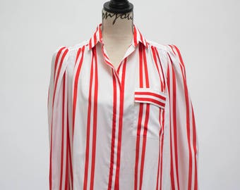 Serge Nancel - Red/White Striped Blouse