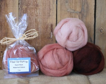 Felting Wool - Assorted Colors