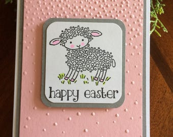 Easter Card, Happy Easter Card, Lamb Easter Card, Lamb Card