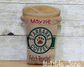 Dog Toy Starbarks Coffee Squeaker Dog Toy Personalized Dog Toy with Squeaker Special Dog Toys Treats Personalized