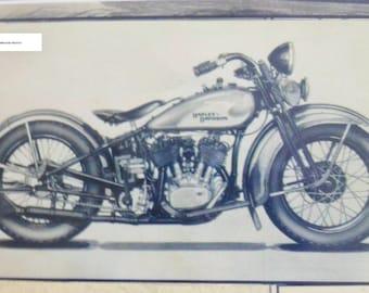 "Harley Davidson Print- 8"" X 14"""