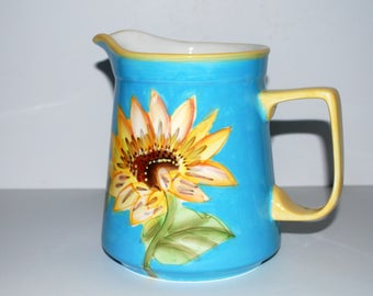 Vintage sunflower pitcher