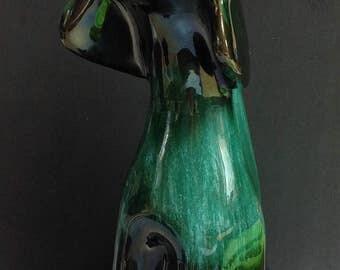 """Large 14"""" blue mountain pottery dog"""