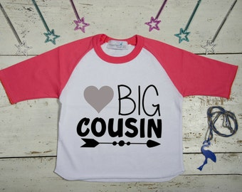 Big Cousin Shirt - Big Cousin Pregnancy Announcement Shirt -Big Cousin TShirt - Heart Shirt - Big Cousin Tshirt