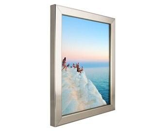 Craig Frames, 16x20 Inch Modern Silver Picture Frame, Bauhaus .75 (729661620)