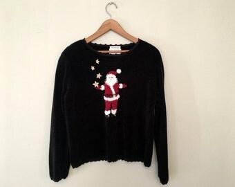 Christmas Singing Santa Sweater
