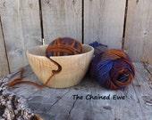 Wooden Yarn Bowl, Knitting Holder