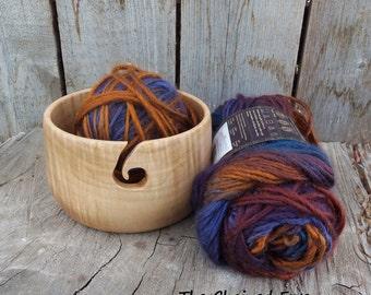 Yarn Bowl, Wooden Yarn Holder