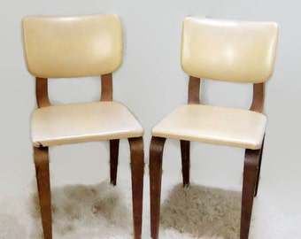 Mid Century Modern Chair Thonet, Pair Vintage Bentwood Chairs, Retro Bent-ply