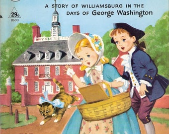 Little Lost Kitten, A Story of Williamsburg Vintage Rand McNally Tip-Top Elf Book by Mildred Comfort Illlustrated by Mannimg de V Lee