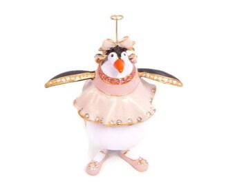 Vintage Penguin Trinket Box Swarovski Crystals Enameled Figurine Patience Brewster Krinkles Hinged Jeweled Box Retired Dept 56 NIB