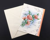 """1950s Vintage MOTHER'S DAY Greeting Card with envelope. """"You've Been Like A Mother To Me"""" Unused New Old Stock NOS Mother-in-law"""