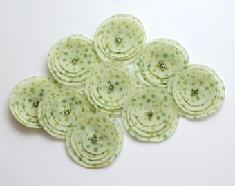 Light Green Polka Dots Poppies Embellishment