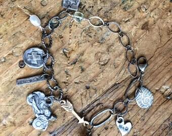 Fine Silver Charm Bracelet