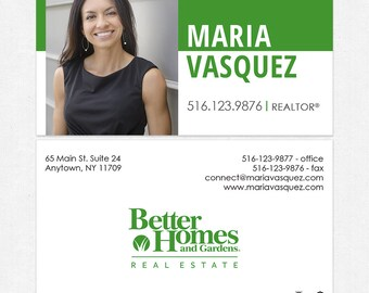 Better Homes and Gardens realtor DELUXE business cards - thick, color both sides - FREE UPS ground shipping
