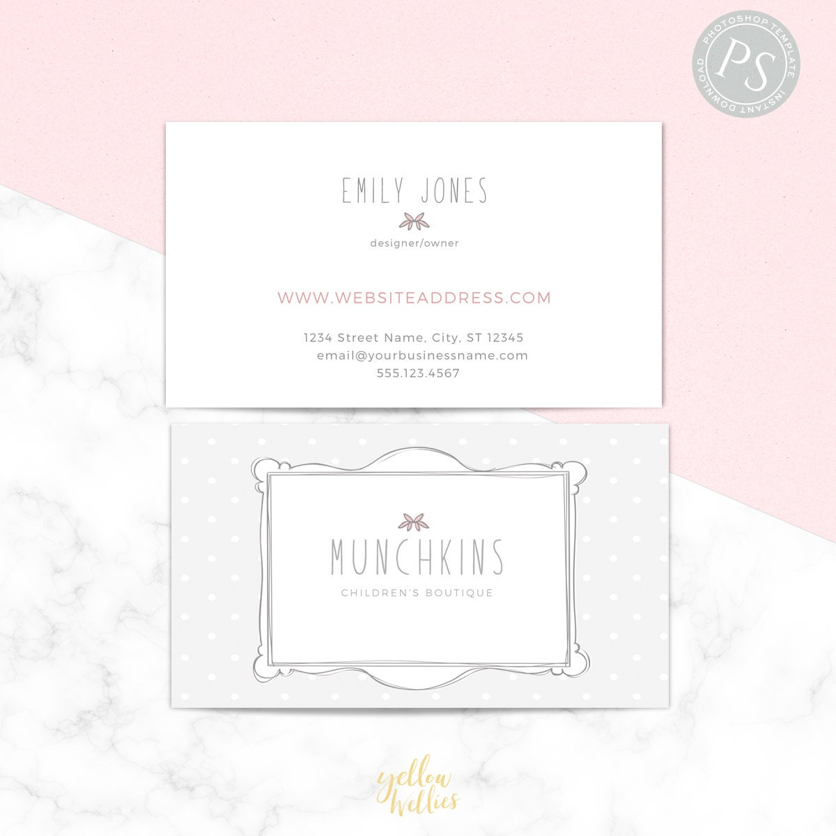 Business Card Template - Photoshop Template - Moo Template - Etsy ...