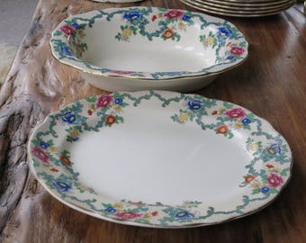 RESERVED FOR PITKAI 2 X  Royal Cauldon 'Victoria' vintage china large serving dishes