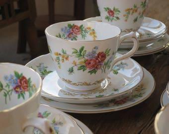 Royal Grafton vintage china tea cup trio