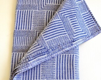 Turkish Towel Rug pattern Peshtemal towel Cotton Peshtemal in denim blue soft