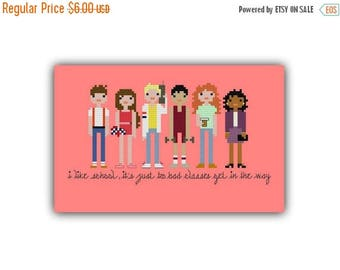 FLASH XSTITCHPATTERN SALE Saved By the Bell Pixel People Cross Stitch Pattern