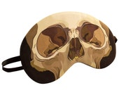 Sleep Forever Skull Sleep Mask - Canvas, Hand-made, A Great Gift for Easter, Mother's Day, Gift for Her, Girlfriend, Boyfriend, Birthday