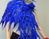 Easter Special Shawl,Fashion, Felted shawl, Fairy, OOAK, Handmade, in USA, , Wearable art, Organic, felted scarf, Women top,Artistic, Story