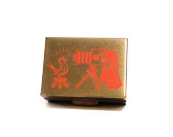 Vintage Compact Pocket Photo Album Mini Hinged Box 1950s