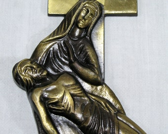 Bronze Plaques, Religious Plaques, Wall Mounted Bronze, Wall Plaque, French Bronze Wall Plaque, Religious Bronze Wall Plaque, Religion (227)