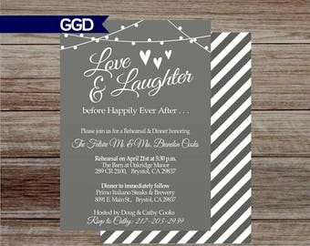 Wedding Rehearsal and Dinner Invitation, rehearsal dinner invitation, wedding rehearsal dinner invite,  rehearsal and dinner invite