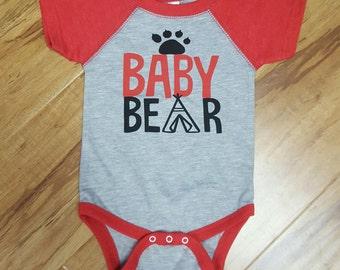Baby Bear Raglan bodysuit Size 6 months FREE SHIPPING